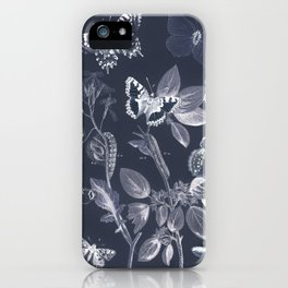 Vintage Butterflies and Moths Remix iPhone Case