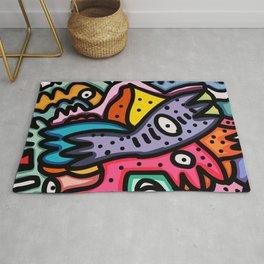 Graffiti art life is a summer dance Rug