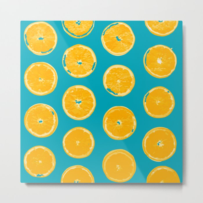 Summer Lemons Metal Print