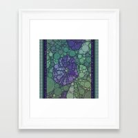 potato Framed Art Prints featuring Percolated Purple Potato Flower by Charma Rose