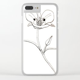Mariposa Lily Clear iPhone Case