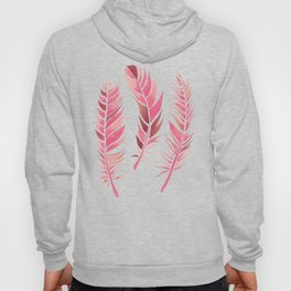 Watercolour Feathers - Coral, Blush and Rose Gold Hoody