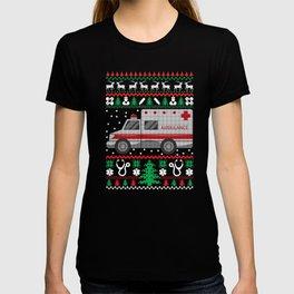 Paramedic Ugly Christmas Sweater Funny Holiday T-Shirt T-shirt