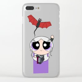 Powerpuff Dany & Drogon Clear iPhone Case