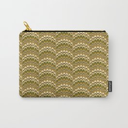 Marbling Comb - Brown Carry-All Pouch