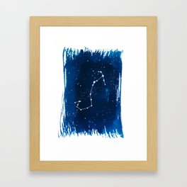 Scorpio Zodiac Print Framed Art Print