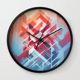 Future Cityscape Wall Clock