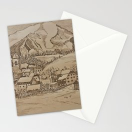Little village in the Mountains of Austria Stationery Cards
