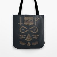occult Tote Bags featuring Fast Food Occult by Hector Mansilla