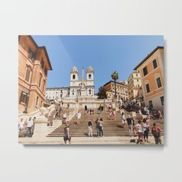 Journey Up the Spanish Steps Metal Print