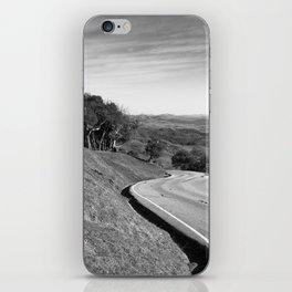 Winding road along the rolling hills near San Simeon, CA iPhone Skin
