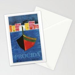 Procida Napels Italy retro vintage travel ad Stationery Cards