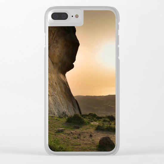 ISLAND STORIES XVIII Mountain Sunset view Clear iPhone Case