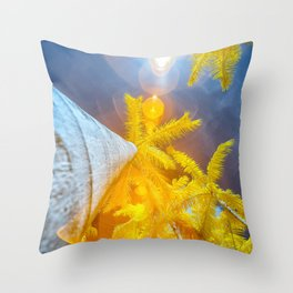 Palm Tree infrared photography technique Throw Pillow
