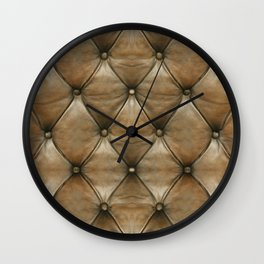 BROWN TUFT Wall Clock