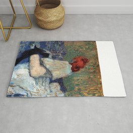 """Henri de Toulouse-Lautrec """"Red-Haired Woman on a Sofa"""" Rug"""