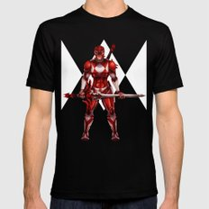 Red Ranger Black X-LARGE Mens Fitted Tee