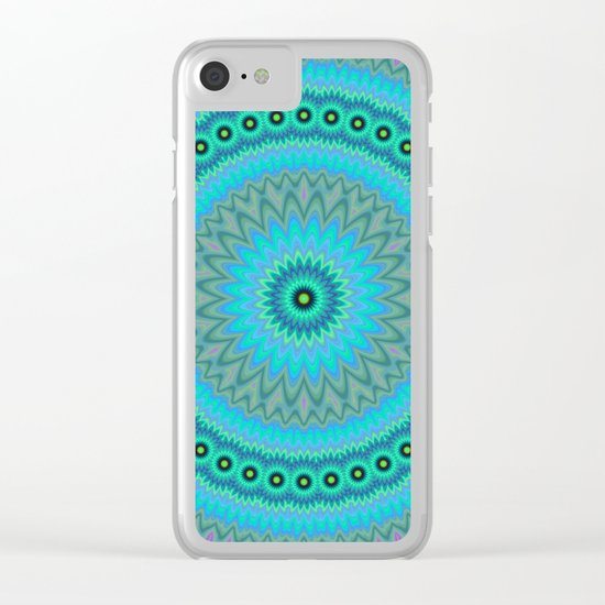 Boho flower mandala Clear iPhone Case