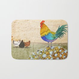 The Cockerel and The Jewel Bath Mat