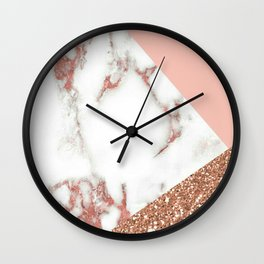 Elements of Pink Wall Clock