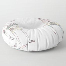 Summer People Floor Pillow