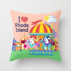 Ernest and Coraline | I love Rhode Island Throw Pillow