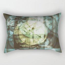 multi exposure clock Rectangular Pillow