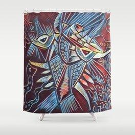 Bullfish Dragon Shower Curtain