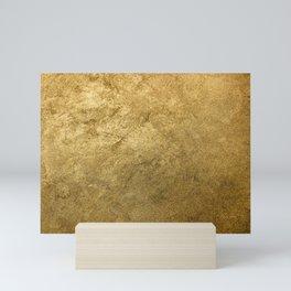 Golden texture background. Vintage gold. Mini Art Print
