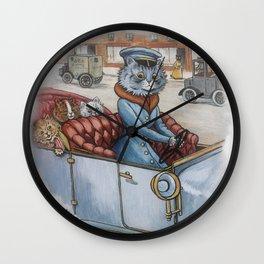 Louis Wain - The Cat Chauffeur Wall Clock