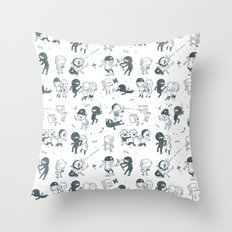 Pop Culture Clash Throw Pillow