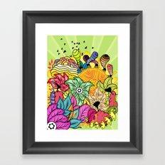 Colour In The Garden Framed Art Print