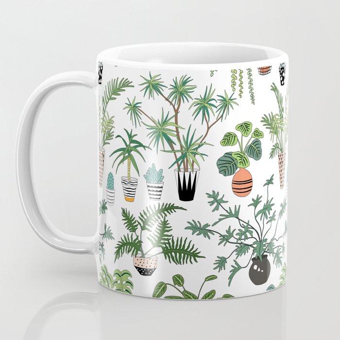 plants and pots pattern Coffee Mug
