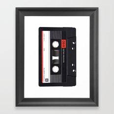 Old School Tape Framed Art Print