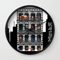 donkey kong Wall Clocks featuring Donkey Kong City by Ryan Huddle House of H