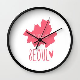 Seoul (Map) Wall Clock