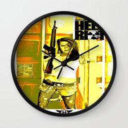 Terra Hell Riot 1 Wall Clock