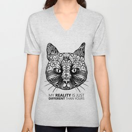 Different Reality Cat Unisex V-Neck