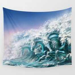 water horse Wall Tapestry
