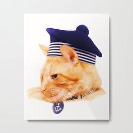 Sailor Cat Metal Print