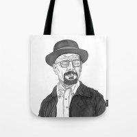 heisenberg Tote Bags featuring Heisenberg by Andy Christofi