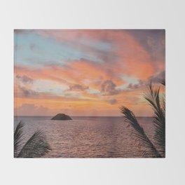 ISLAND SUNRISE Throw Blanket