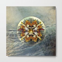 Ocean Jewels - Puffer Fish And Moray Eels Metal Print