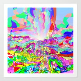 Badlands USA Art Print