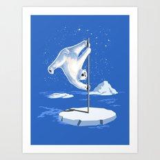 North Pole Dancer Art Print