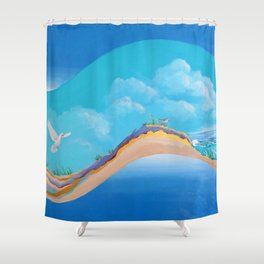 Land To Sea Shower Curtain