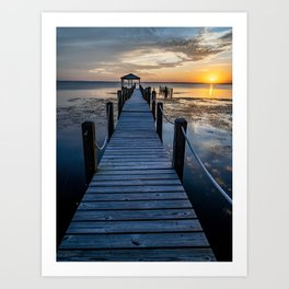 Sunset Dock Art Print