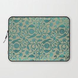 Blue Lotus Pattern Laptop Sleeve