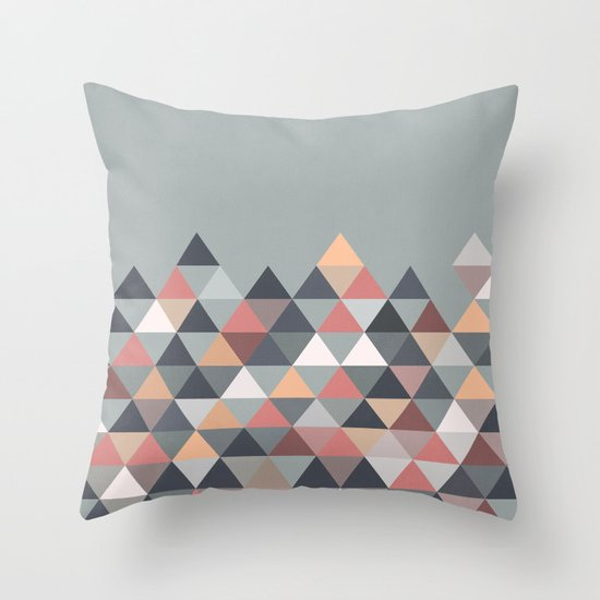 Nordic Combination IV Throw Pillow by Mareike Bohmer Society6