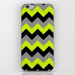 Chevron Silver Lime iPhone Skin